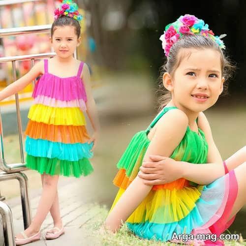مدل لباس بچه گانه رنگی