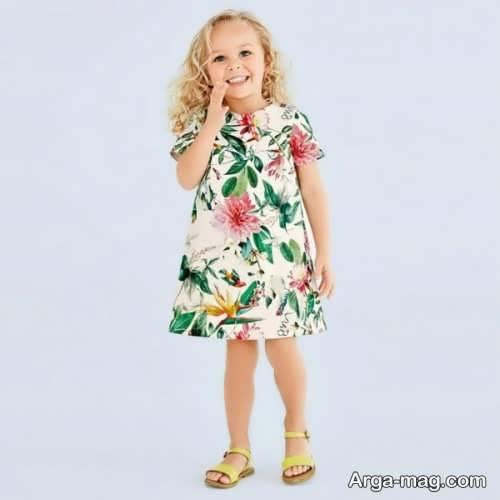 مدل لباس گلدار بچه گانه