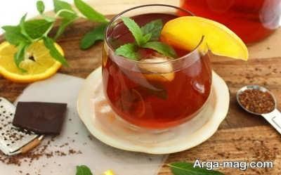 نوشین چای دارچین با لیمو تازه