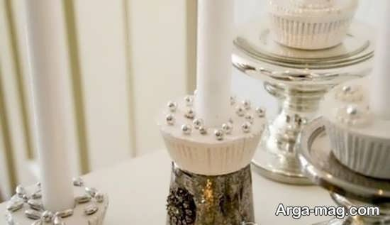 ساخت شمعدان با گچ