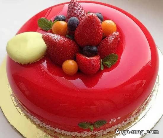 ایده تزیین کیک با میوه