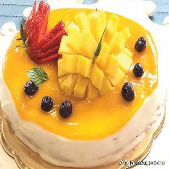 تزیینات زیبای کیک با میوه