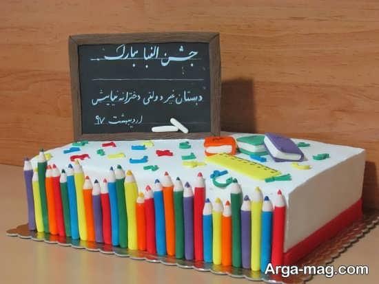 تزیین زیبا و فانتزی کیک برای جشن الفبا