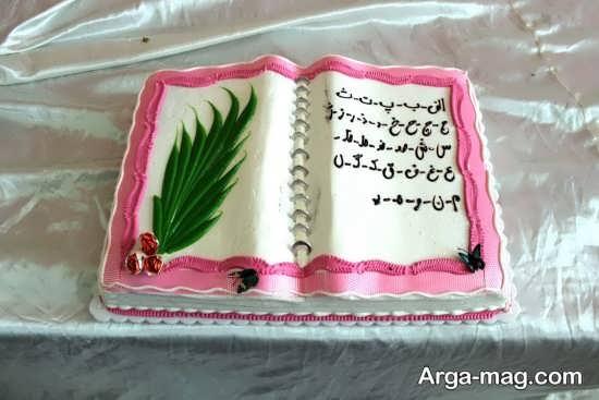 تزیین کیک برای جشن الفبا