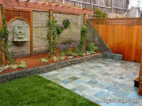 تزیین شیک دیوار حیاط