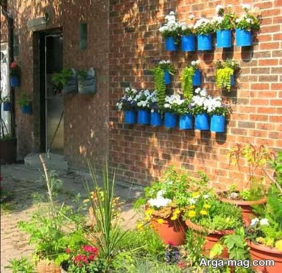 طراحی متفاوت دیوار حیاط