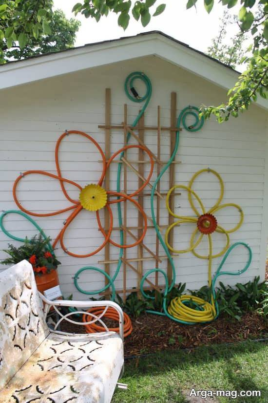 طراحی جذاب دیوار حیاط