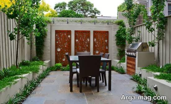 طراحی شیک دیوار حیاط