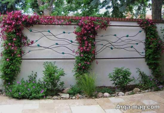 طراحی لاکچری دیوار حیاط