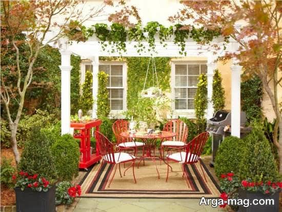 دیوار حیاط با طراحی زیبا