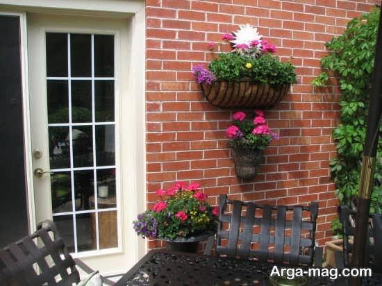 تزیین فوق العاده دیوار حیاط