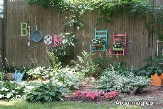 تزیین لاکچری دیوار حیاط