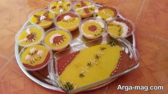 تزیین شله زرد با پودر دارچین