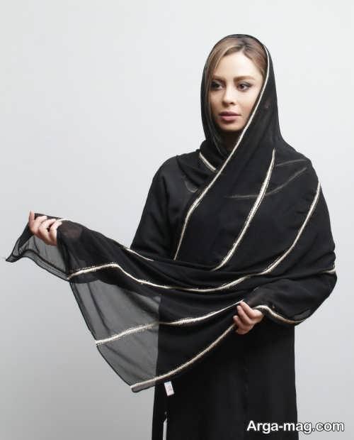 مدل شال مشکی مجلسی