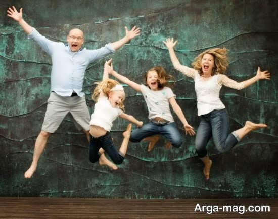 ژست جالب برای عکس خانوادگی