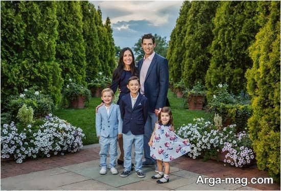 ژست عکس خانوادگی در طبیعت