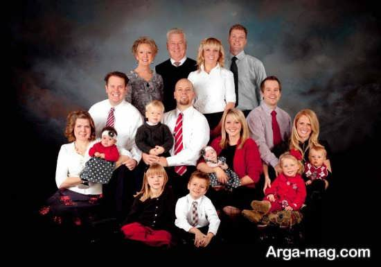 ژست زیبا برای عکس خانوادگی