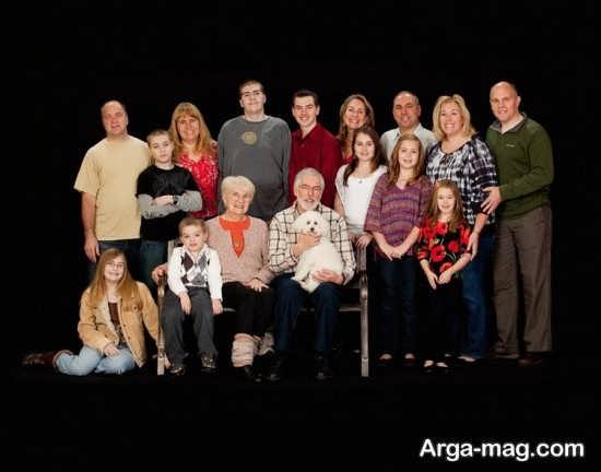ژست های آتلیه ای عکس خانوادگی