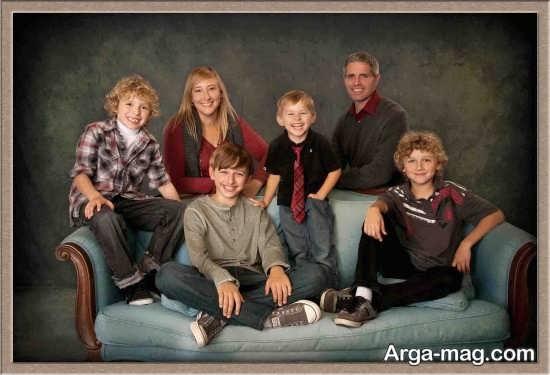 ژست عکس خانوادگی زیبا