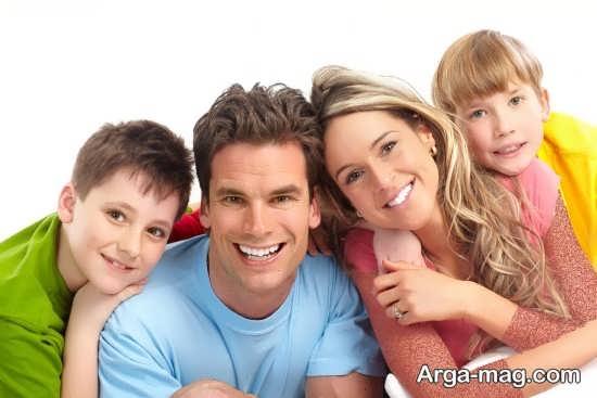 ژست زیبا و صمیمی برای عکس خانوادگی