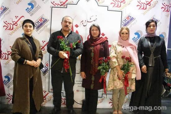 فریبا متخصص در کنار بازیگران سریال نمایش خانگی شهرزاد