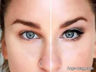 مدل آرایش کردن چشم ریز