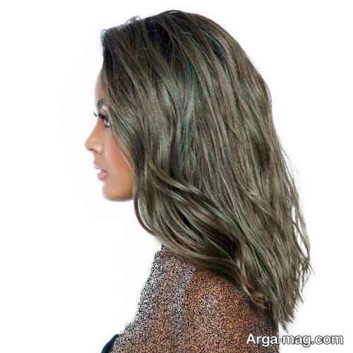 رنگ مو خاکی زنانه