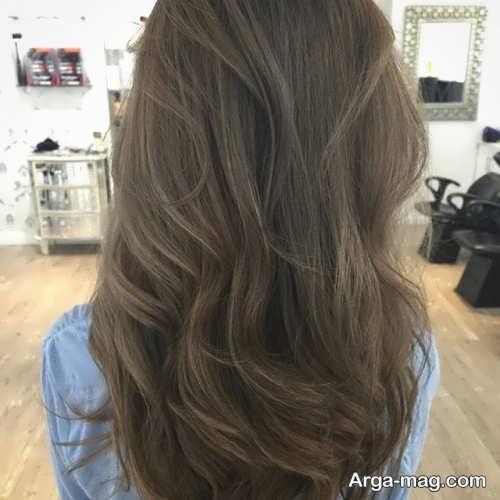 رنگ مو دخترانه خاکی