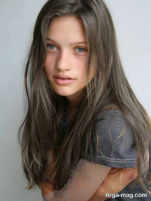 رنگ موی دخترانه خاکی