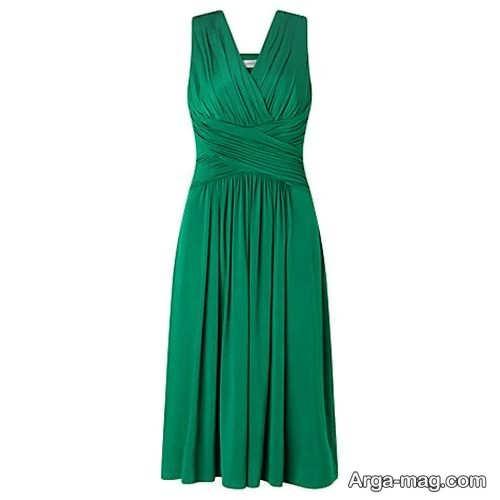 مدل پیراهن سبز و کوتاه