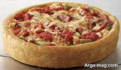 پیتزا شیکاگو خوشمزه