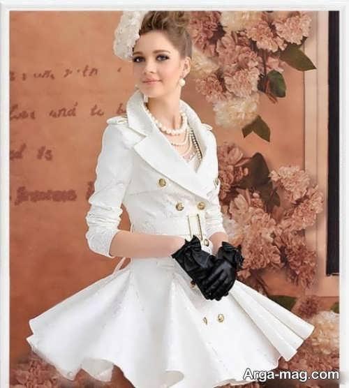 مدل مانتو سفید و شیک دخترانه