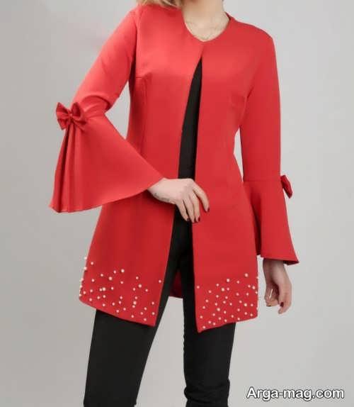 مدل مانتو قرمز دخترانه