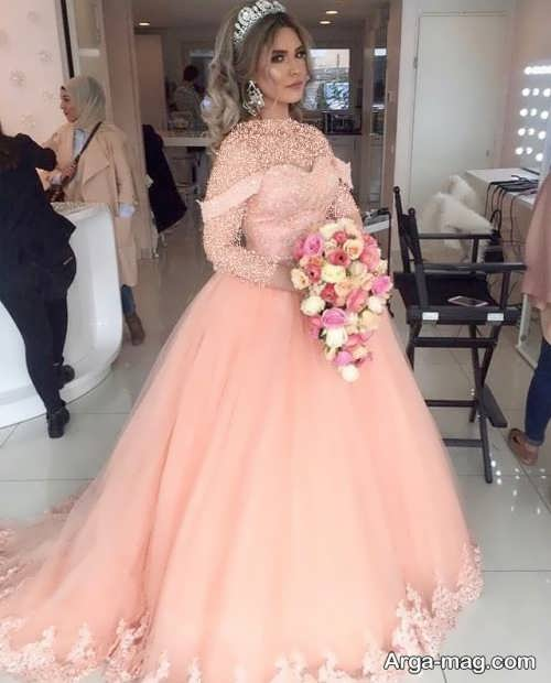 [تصویر:  Model-bridal-Peach-color-1.jpg]