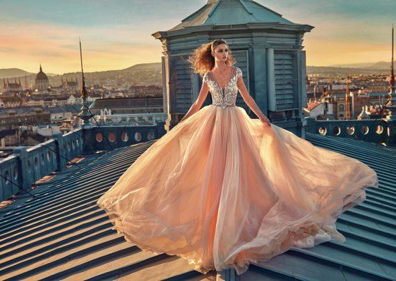 مدل لباس عروس گلبهی