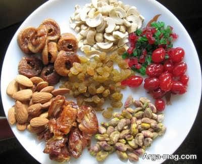 بادام هندی و کشمش