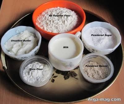 مواد لازم کیک آجیلی