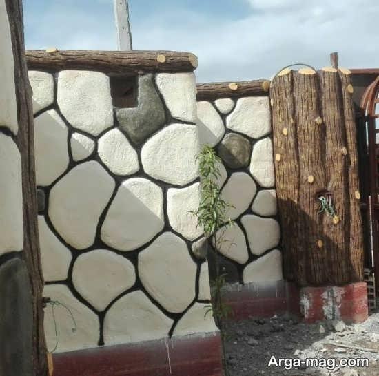 جدیدترین رنگ آمیزی دیوار حیاط