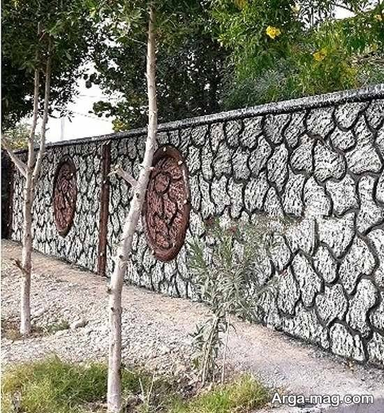 رنگ آمیزی دیوار سیمانی با طرح زیبا