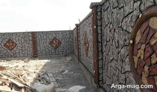 رنگ آمیزی دیوار سیمانی با طرح جالب