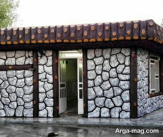 رنگ آمیزی دیوار سیمانی با طرح مدرن