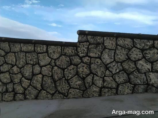 رنگ آمیزی دیوار سیمانی با طرح دیدنی
