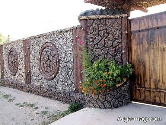 رنگ آمیزی دیوار سیمانی با طرح هنرمندانه