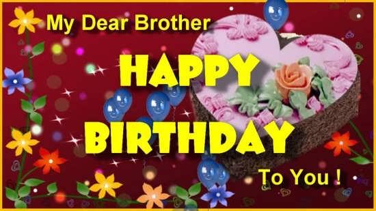 عکس نوشته انگلیسی برادرم تولدت مبارک