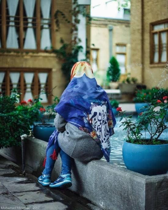 عکس پروفایل دخترانه با روسری آبی