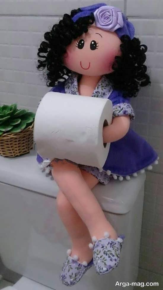 کاردستی عروسکی رول دستمال کاغذی