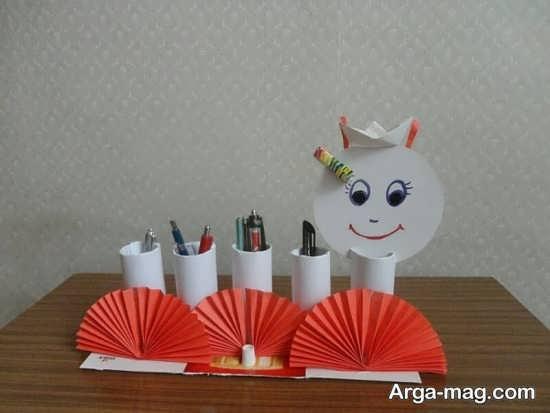 کاردستی عروسکی و جالب رول دستمال کاغذی
