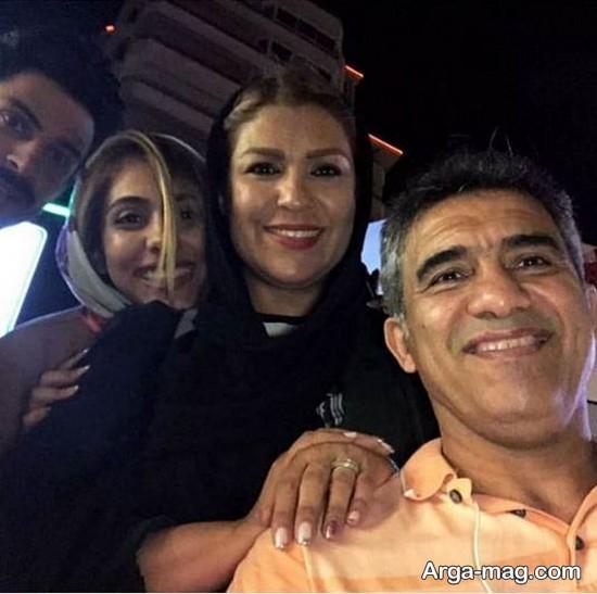 احمدرضا عابدزاده و دخترش