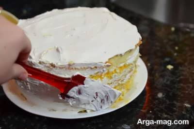 روکش خامه ای کیک