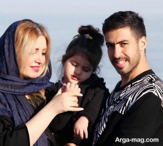 خسرو حیدری و دخترش در یک قاب